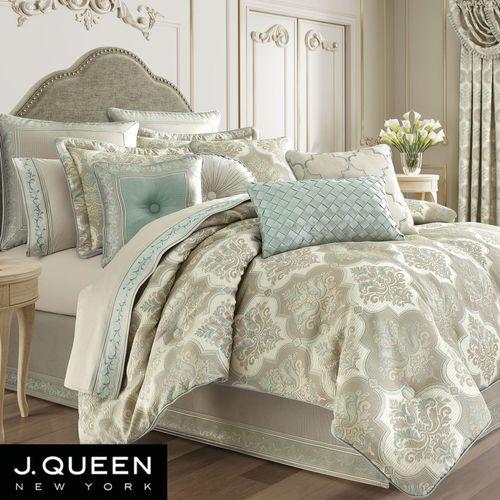 Genevieve Comforter Set Aqua Mist