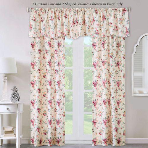 Roselaine Tailored Curtain Pair