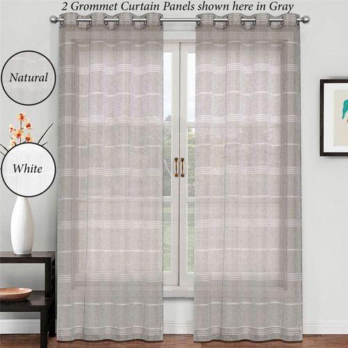 Lifford Semi Sheer Grommet Curtain Panel
