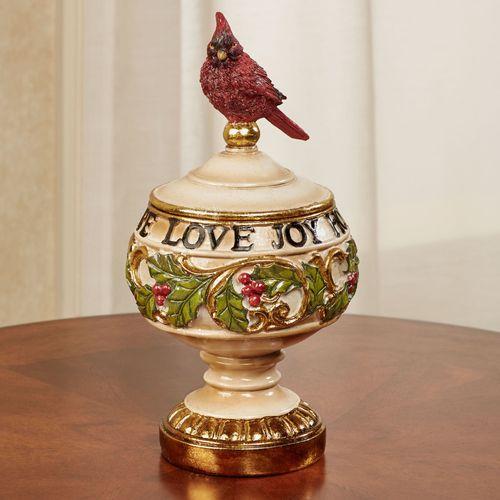Love Joy Hope Covered Jar Ivory