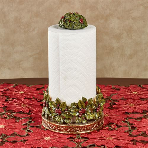 Winterberry Paper Towel Holder Red