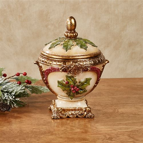 Winterberry Decorative Covered Bowl
