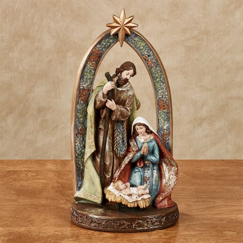 Adore Him Nativity Table Sculpture Multi Earth