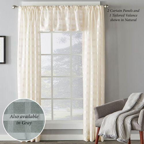 Holland Semi Sheer Curtain Panel