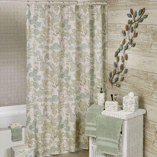 Springtime Leaf Shower Curtain Light Almond 72 x 72