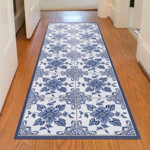 Delft Floral FlorArt Runner Mat Blue/White 69 x 22