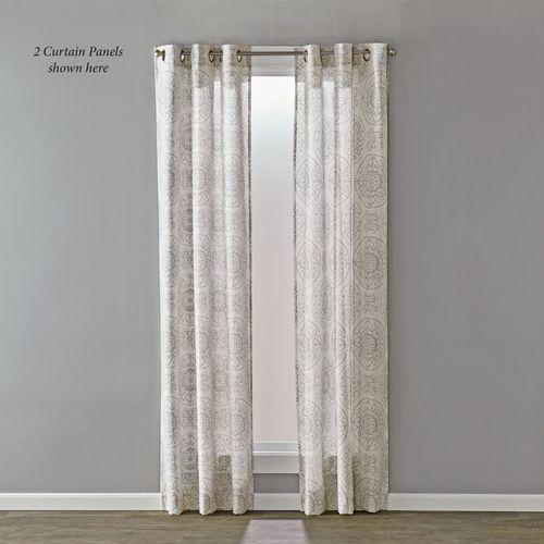 Scarlett Grommet Curtain Panel Gray