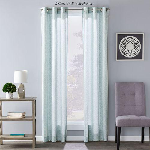 Lilley Grommet Curtain Panel Pale Aqua