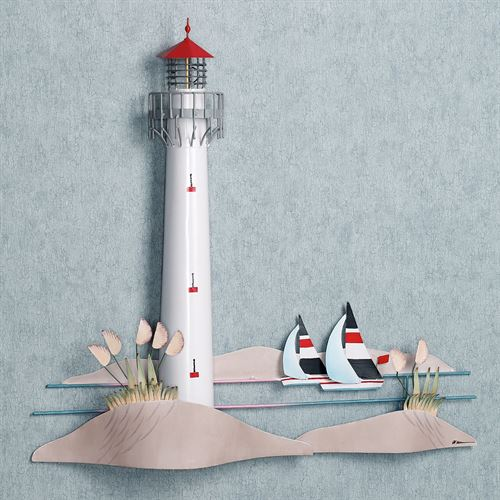 Lighthouse Metal Wall Art  25 x 25