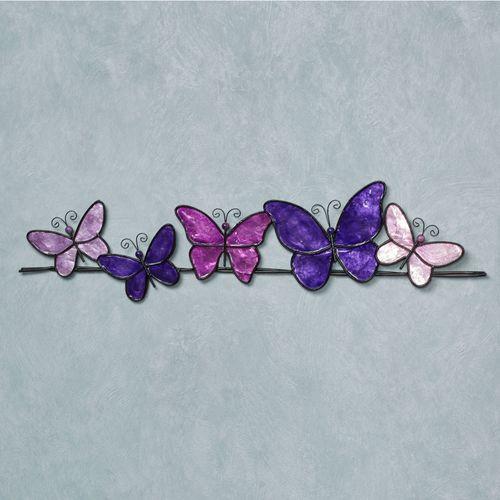 Resting Butterflies Wall Art Purple
