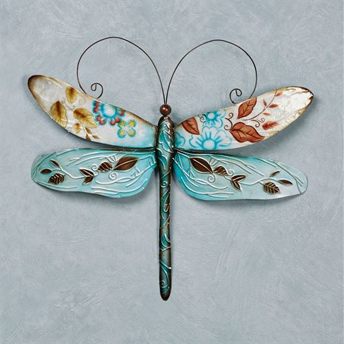 Omma Dragonfly Capiz Shell And Metal Indoor Outdoor Wall Art