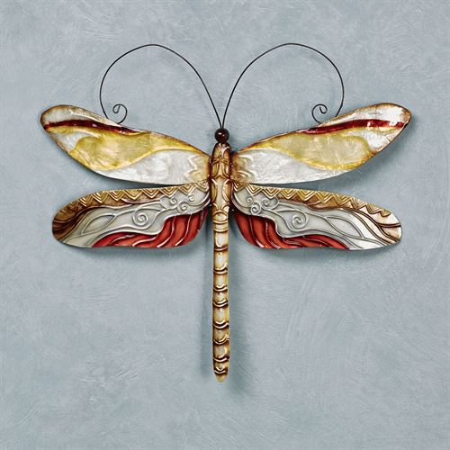 Mita Dragonfly Capiz Shell And Metal Indoor Outdoor Wall Art
