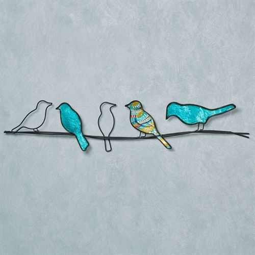 Wire Birds Capiz Shell And Metal Indoor Outdoor Wall Art
