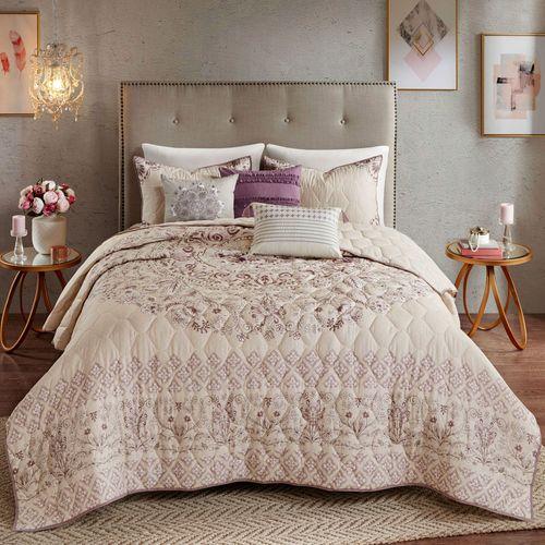 Floral Elise Quilt Bed Set Lilac