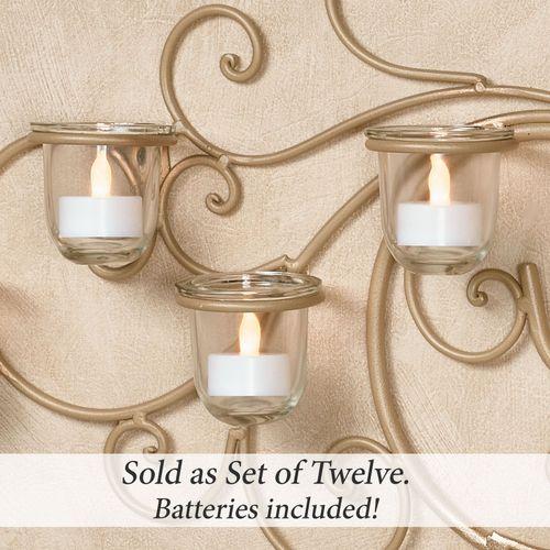 Harper LED Tealight Candles White Set of Twelve