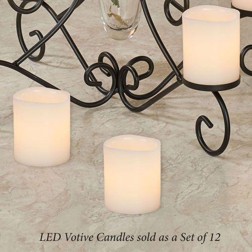 Zoe LED Flameless Votive Candles Ivory Set of Twelve