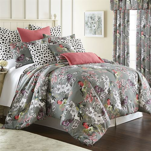 Calantha Mini Comforter Set Dark Gray