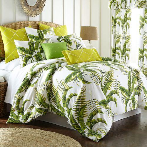 Lush Fronds Tropical Mini Comforter Set Off White