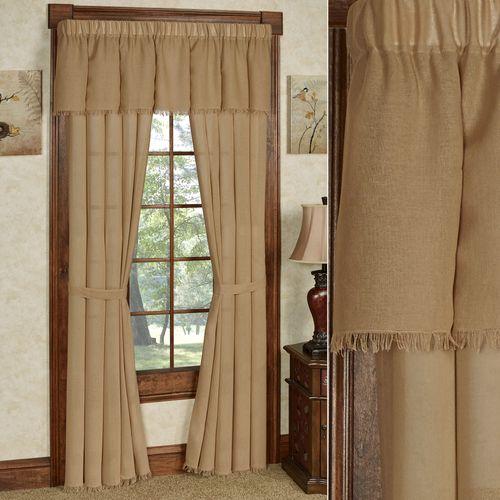Tipton Semi Sheer Tailored Curtain Pair