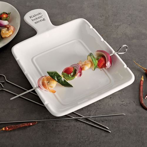 Circa Kabob Server Set White Five Piece Set