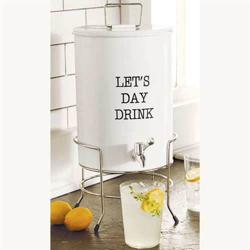 Circa Drink Dispenser Set White Three Piece Set