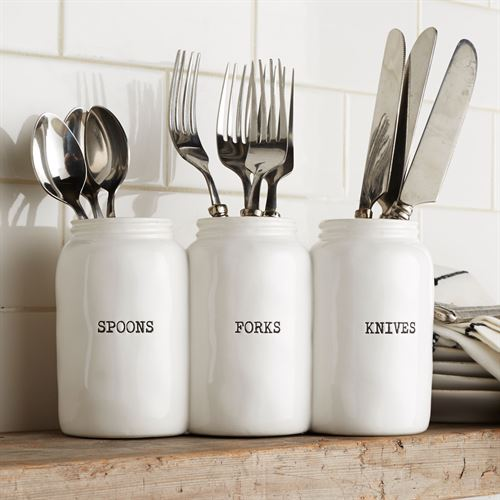 Circa Joined Utensil Holder White