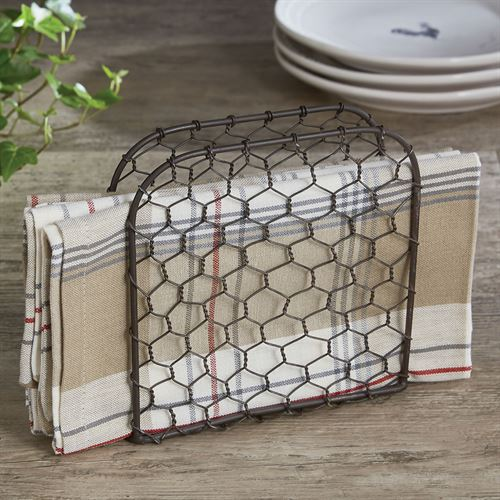 Chicken Wire Napkin Holder Gun Metal