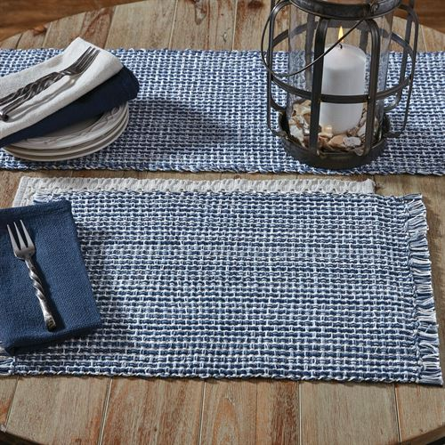 Tweed Basics Table Runner Denim 13 x 54