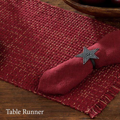 Tweed Basics Table Runner Wine 13 x 54
