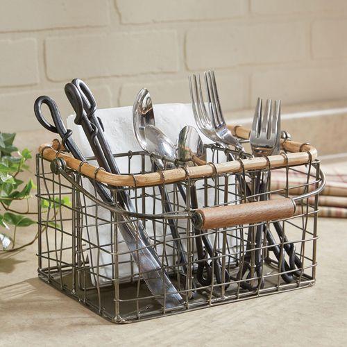 Reedsville Metal Wire Kitchen Utensil and Napkin Caddy