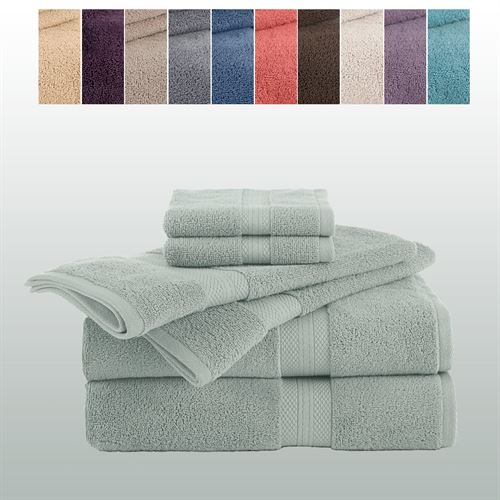 Martex Abundance Bath Towel Set Six Piece Set