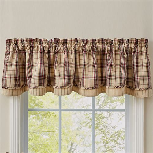 Stanford Scalloped Valance Beige 72 x 16