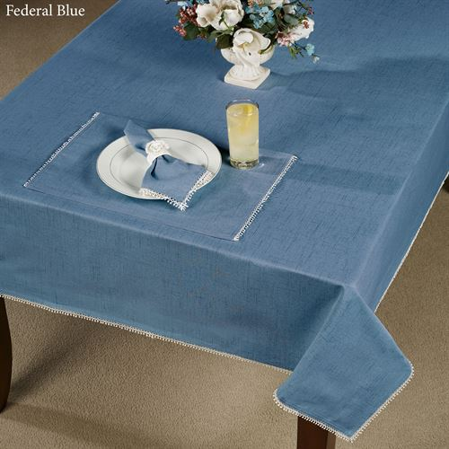 French Perle Solid Color Tablecloth