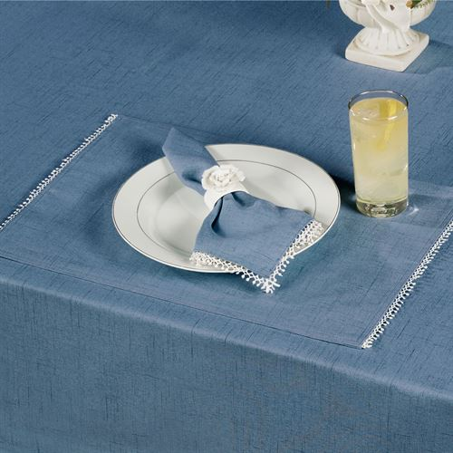French Perle Solid Color Placemats Set of Four