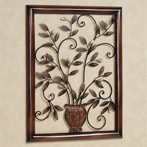 Tosca Flora Wall Sculpture Old World Bronze