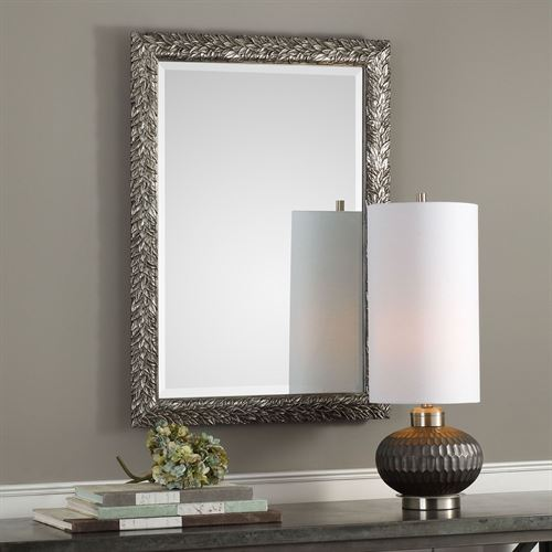 Evelina Rectangle Wall Mirror Burnished Silver