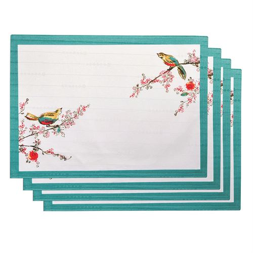 Chirp Placemats Ivory Set of Four