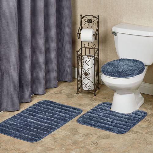 Veranda Toilet Lid Cover and Bath Rugs Set of Three