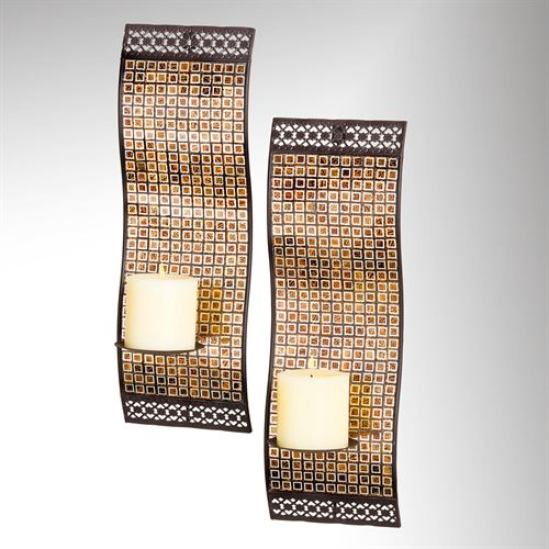 Timeless Elements Wall Sconces Multi Earth Pair