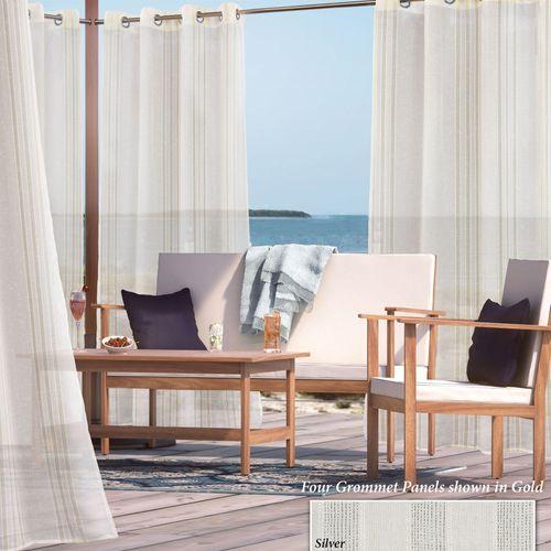 Audrina Sheer Grommet Curtain Panel