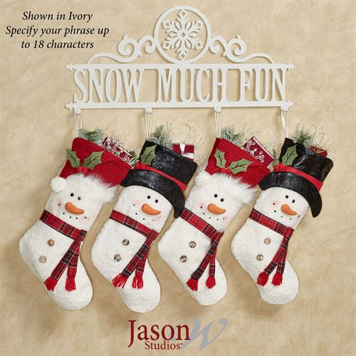 Occasions Holiday Personalized Wall Hook Rack Snowflake