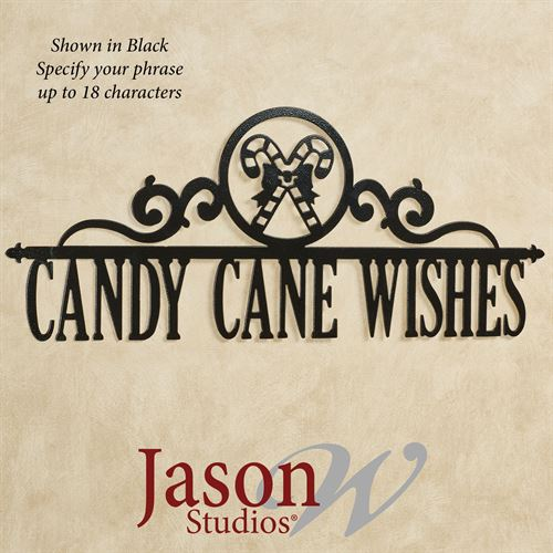 Occasions Holiday Personalized Wall Art Sign Candy Cane