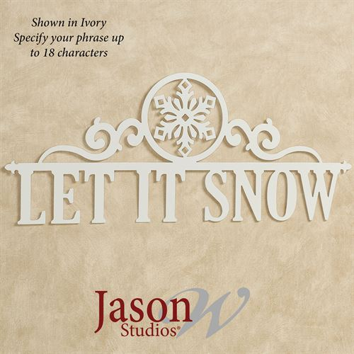 Occasions Holiday Personalized Wall Art Sign Snowflake