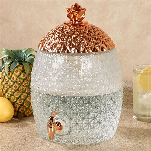Pineapple Cold Beverage Dispenser Clear