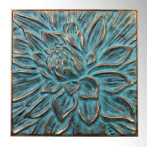 Lotus Flower Wall Art Gold Verdi