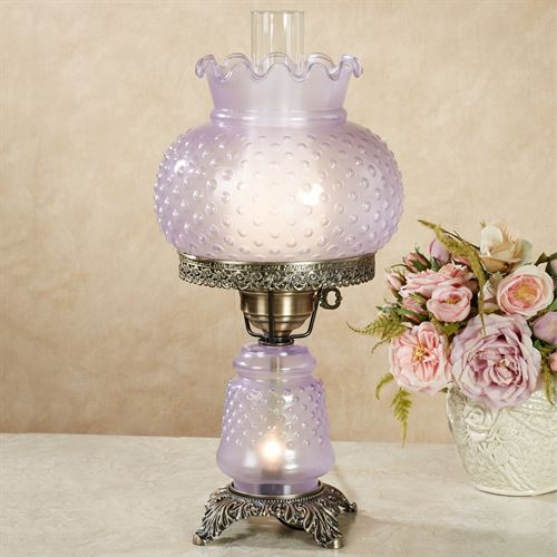 Mindy lavender purple hobnail glass table lamp mindy hobnail table lamp lavender aloadofball Image collections