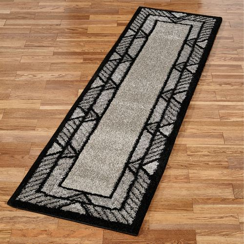 Ternion Rug Runner Black 23 x 8