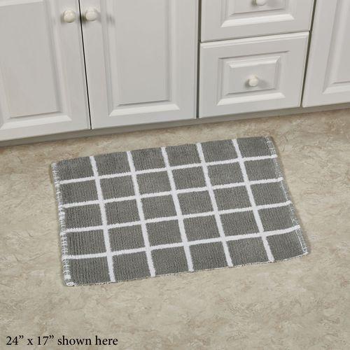 Keagan Cotton Reversible Gray Bath Rugs