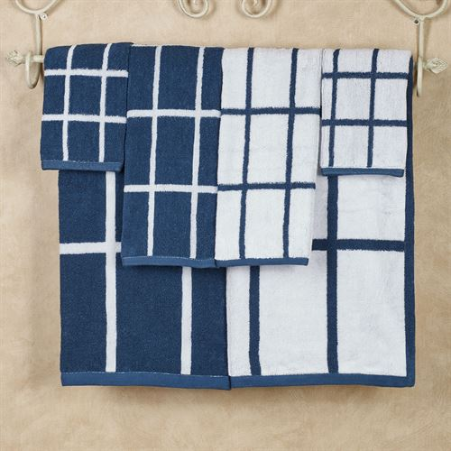 Keagan Bath Towel Set Indigo Six Piece Set