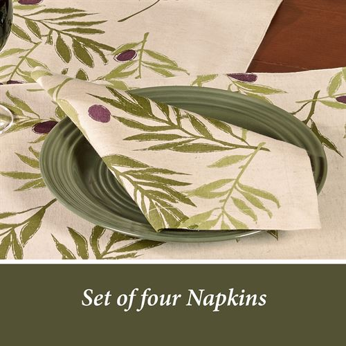 Olives Napkins Ivory Set of Four